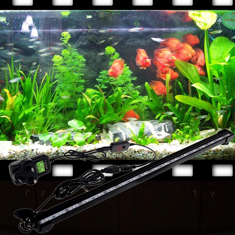 16cm Aquarium Fish Tank Waterproof Led Light Bar Submersible Air Bubble