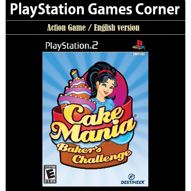 PS2 Game Cake Mania Baker\'s Challenge, Action Game, English version / PlayStation 2