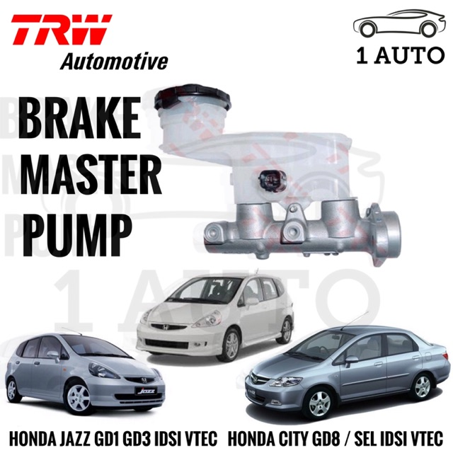 Trw Brake Master Pump For Honda Jazz Gd1 Idsi Gd3 Vtec City Gd8