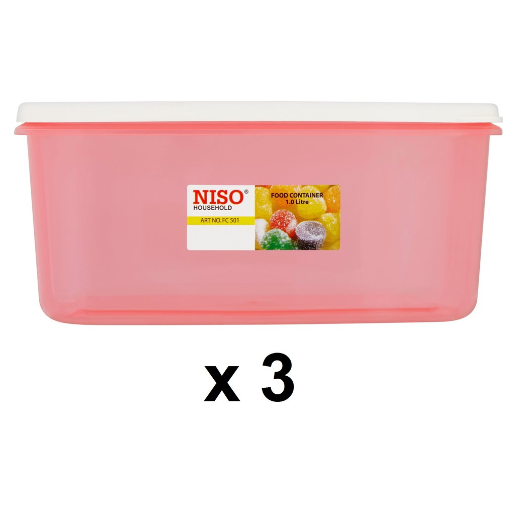 Niso Food Container 900ml FC502 3s