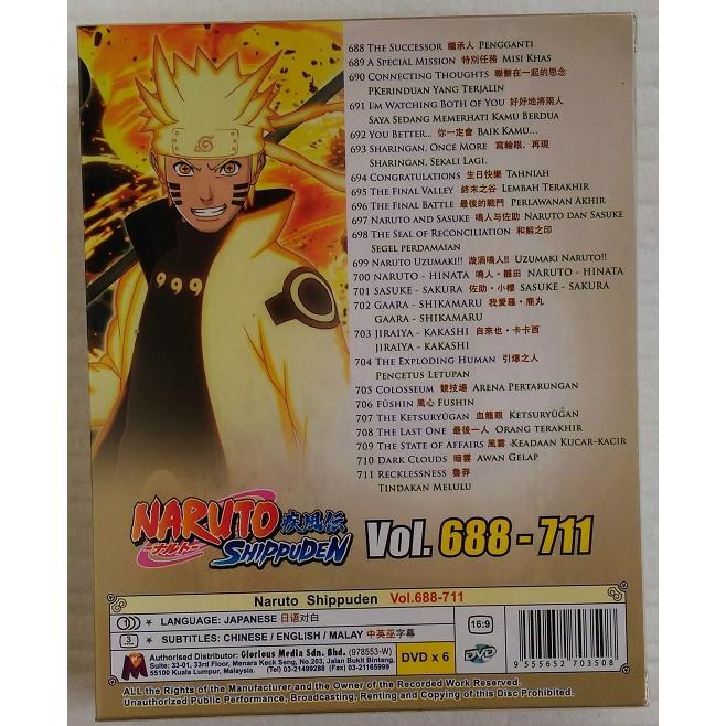 Naruto Box 24 (Eps 688~711) Anime DVD 火影忍者 Shippudden