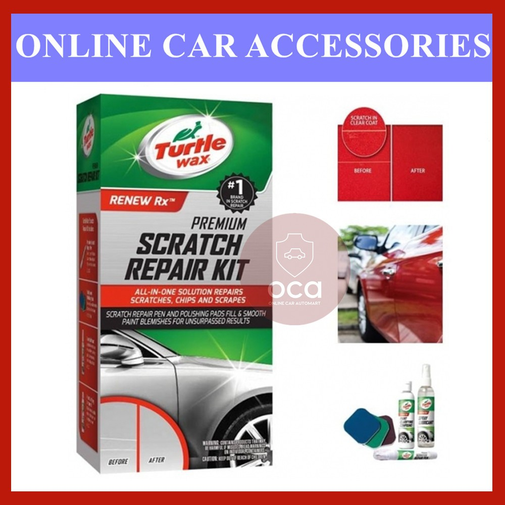 TURTLE WAX SCRATCH REPAIR KIT All-in-One Solution to repair scratches, chips and scrapes T-234