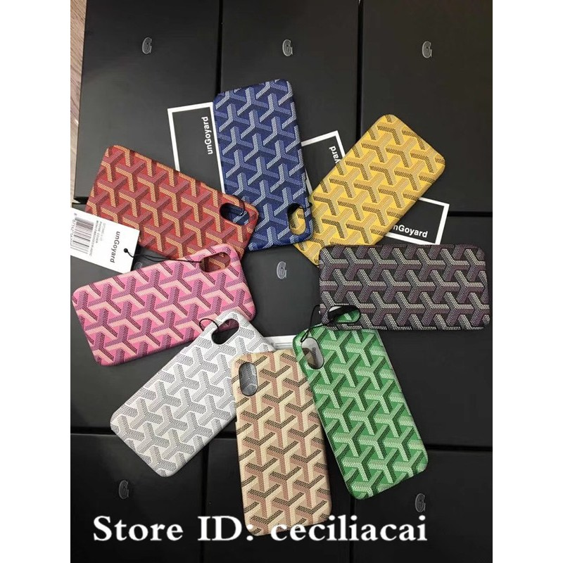 sale retailer ee609 5c136 Ready Stock GOYARD Leather Phone Case For iPhone X XR XS MAX iPhone6 6s 7 8  plus