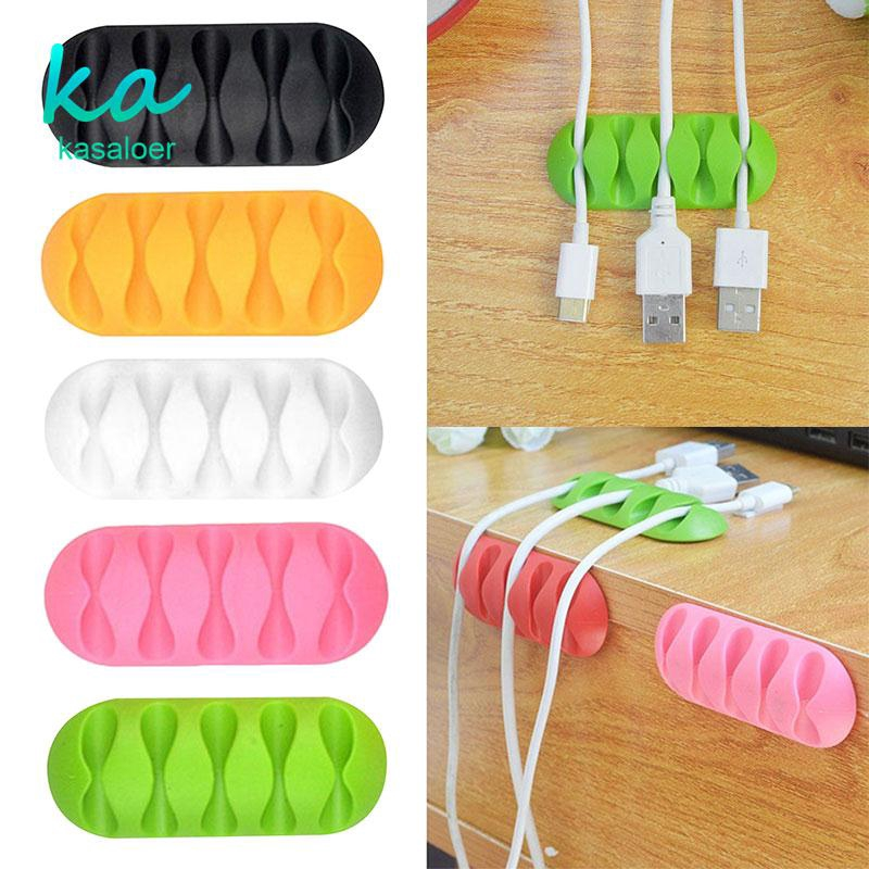 2PCS Colorful Wire Cord Clip Line Holder Tie Fixer Organizer Drop Adhesive Clamp