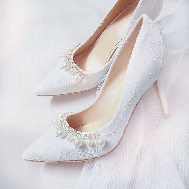 Wedding Shoes Kasut Kahwin Pearl Shopee Malaysia