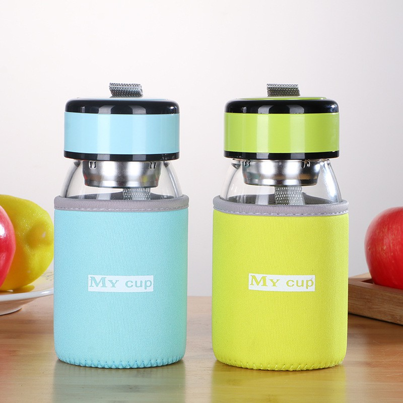 Simple cute glass anti-hot and explosion-proof water cup 300 millilite