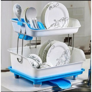 Dish rack with drainer