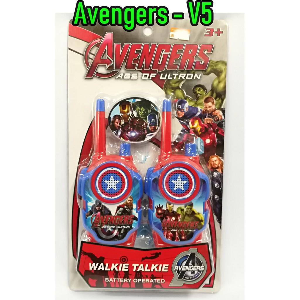 New Marvel Spiderman Walkie Talkies 2 Pack Superhero Two-Way Radio Toy Set