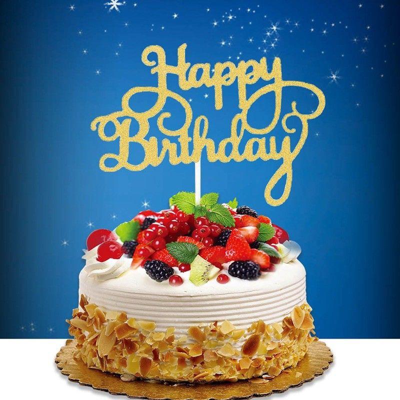 Admirable Bestwish Cake Topper Card Flag Dessert Happy Birthday Wedding Personalised Birthday Cards Veneteletsinfo
