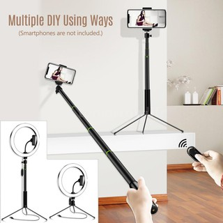 Vbestlife Dimmable LED Light Ring 10-inch USB Tabletop Makeup Ring Light for Make Up Studio Shooting 10 LED Selfie Ring Light with 3 Light Modes White