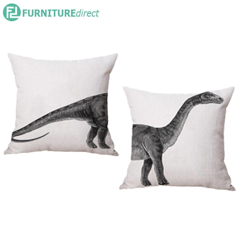 Dinosaur set of 2 – 45x45cm line fabric cushion pillow