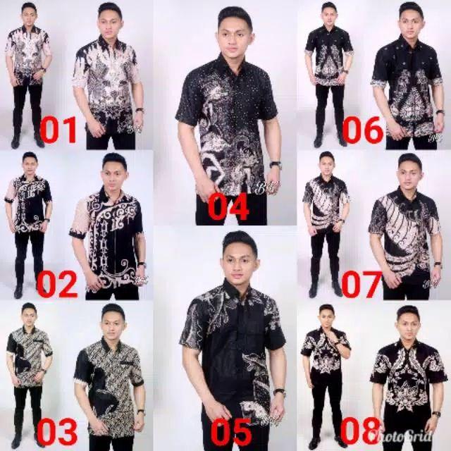 Kemeja batik jawa hitam manis M-XXL