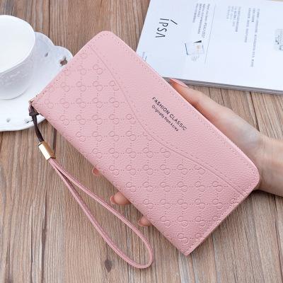 Women PU Leather Long Purse Fashion Zipper Clutch Long Wallet