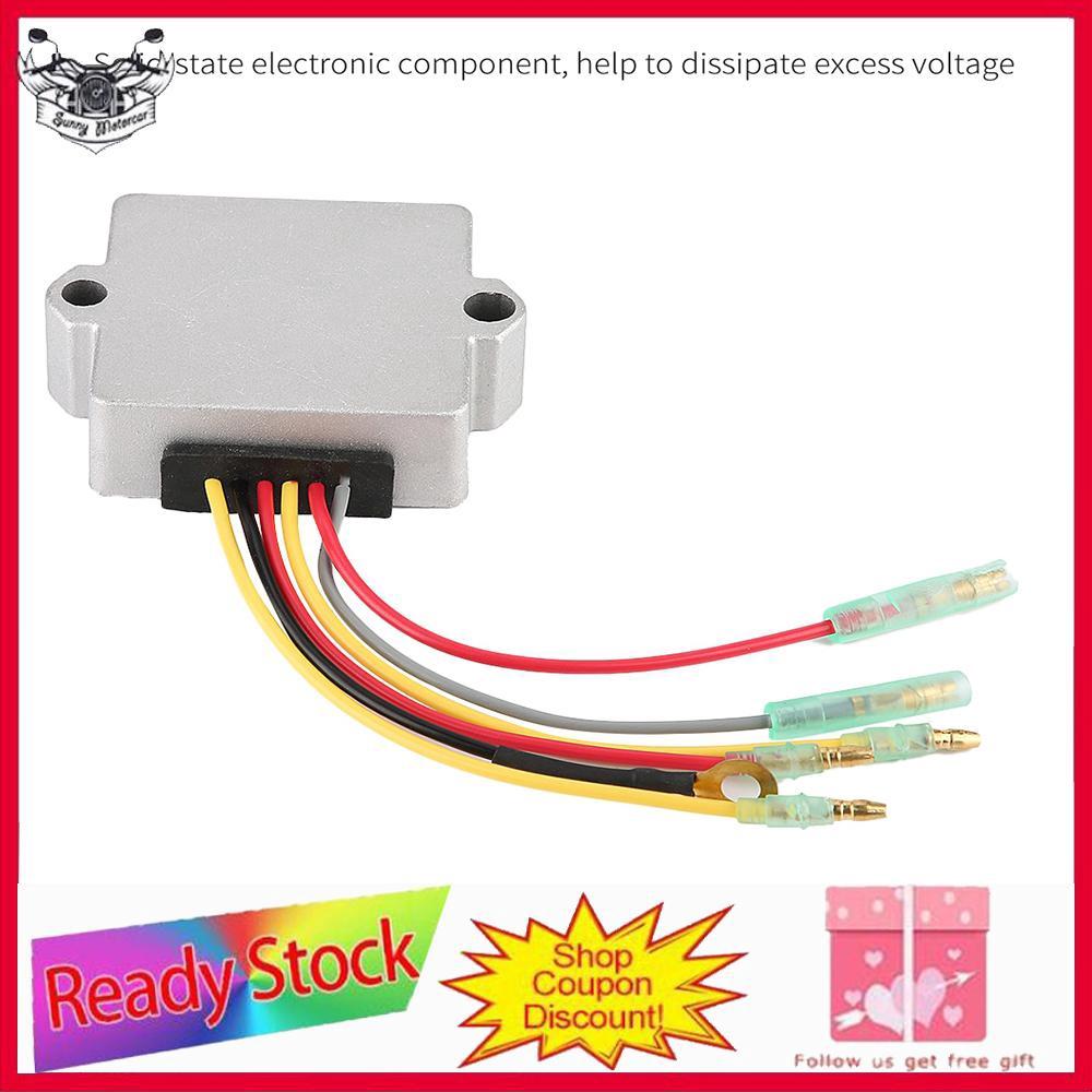 815279-3 883072T Voltage Rectifier Regulator for Mercury Mariner Outboard 6  Wire