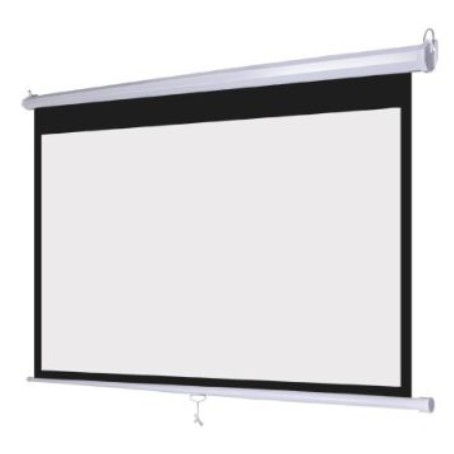"MEKI EZ 6' x 6' WALL MANUAL SCREEN 70"" x 70"" -MATTE WHITE"