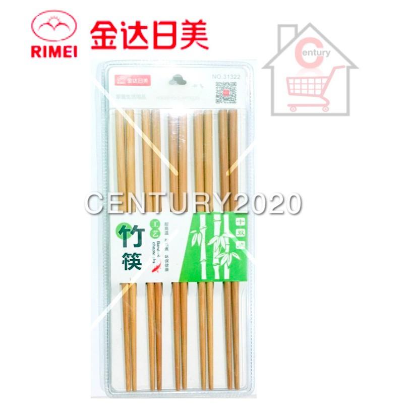 RIMEI Chopsticks Plain Painted Printing Bamboo Chopstick Printing 10 Pairs 31322