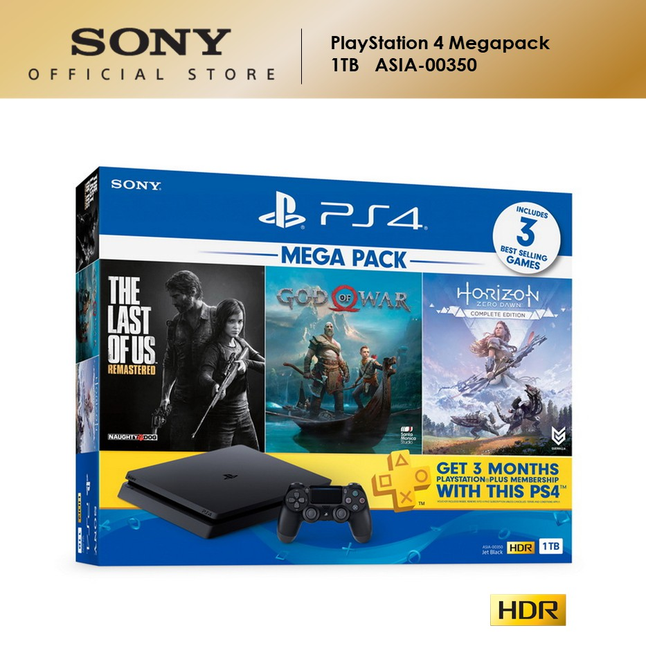 Sony Playstation 4 Ps4 Slim Mega Pack 1 Asia 00350 1tb Shopee Malaysia
