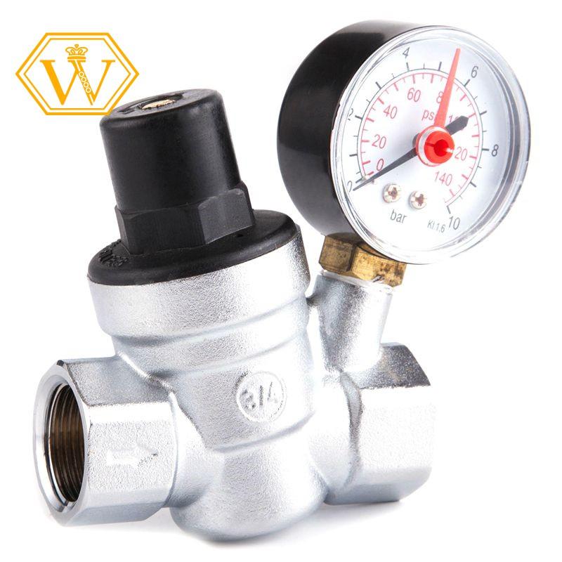 ☀stock now☀Water Pressure Regulator With Gauge Pressure Maintaining Valve  Tap