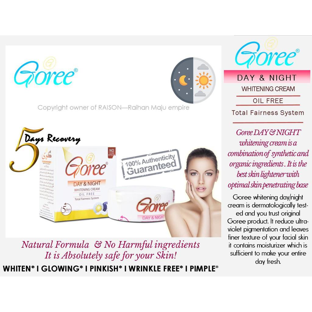 Goree Day & Night Whitening Cream Oil Free 30gm