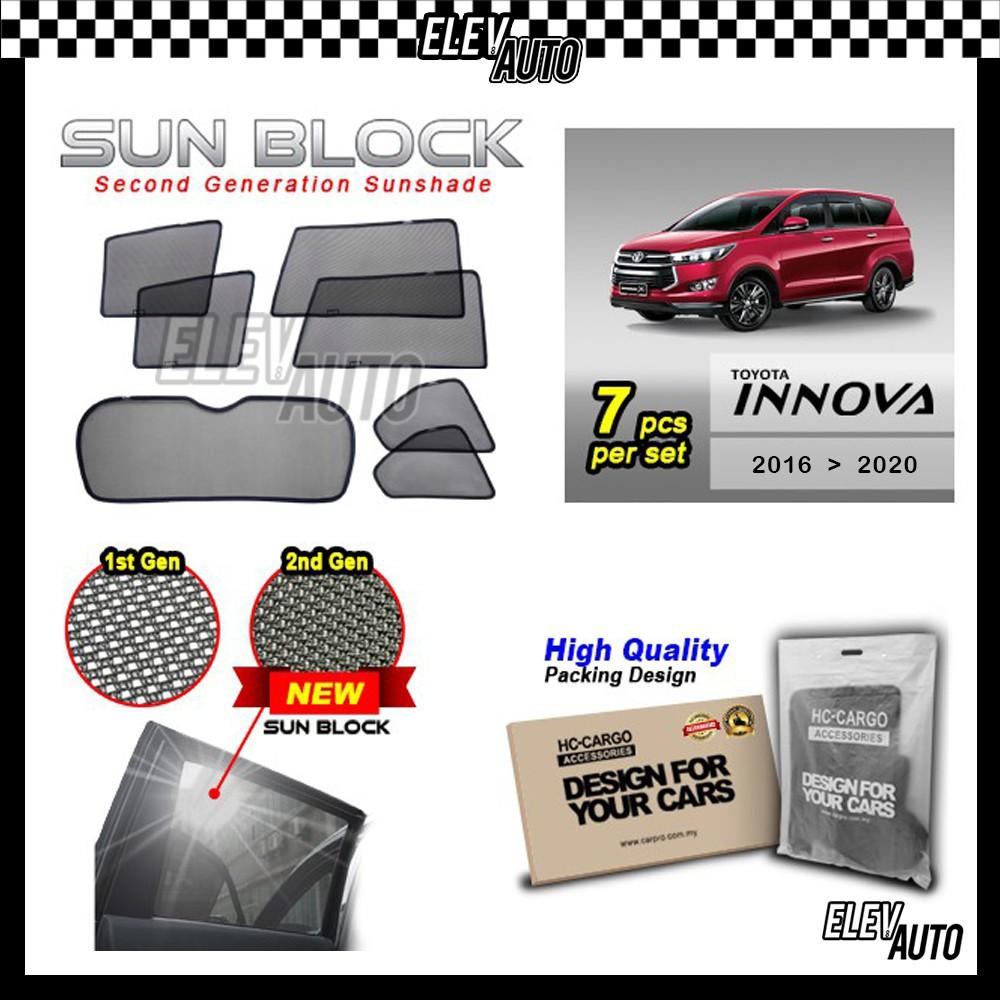 Toyota Innova 2016-2021 SUN BLOCK Premium Magnetic Sunshades
