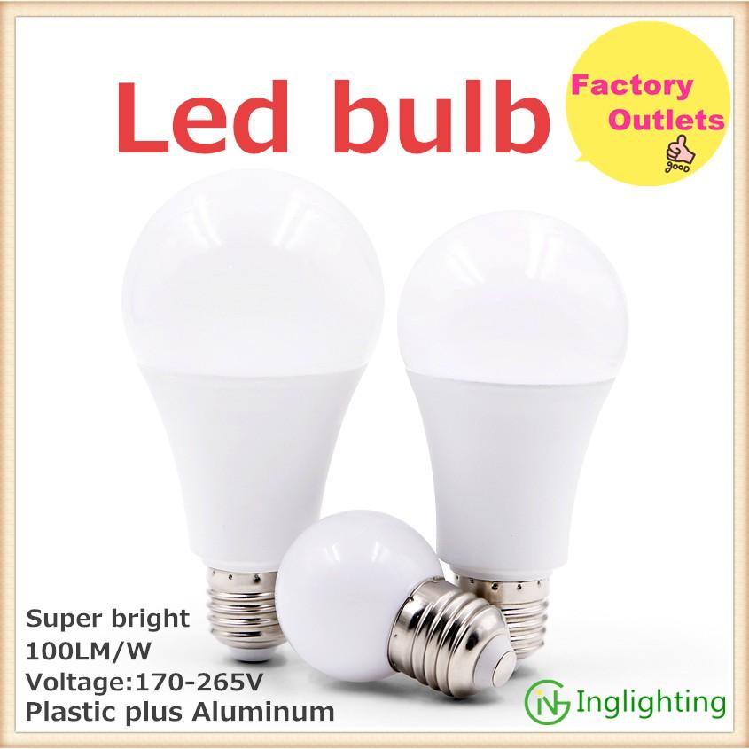 Factory Outlets Led Bulb E27 3w 5w 9w 12w15w Indoor Bulbs Table Lamp Bulbs Ceiling Light Bulbs Plastic Plus Aluminum Shopee Malaysia