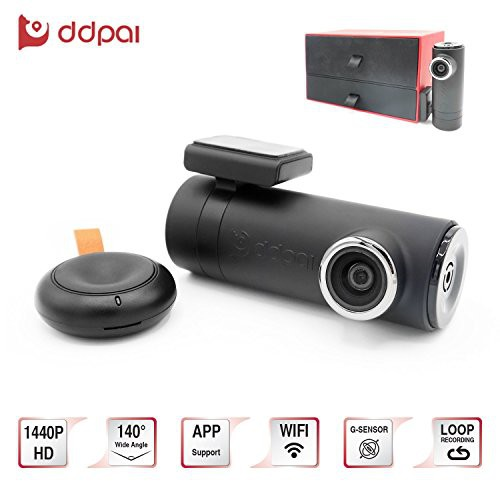 DDPai Mini2P 1440P Wi-Fi Car Dash Camera 140° Wide Angle Remote Loop Recording