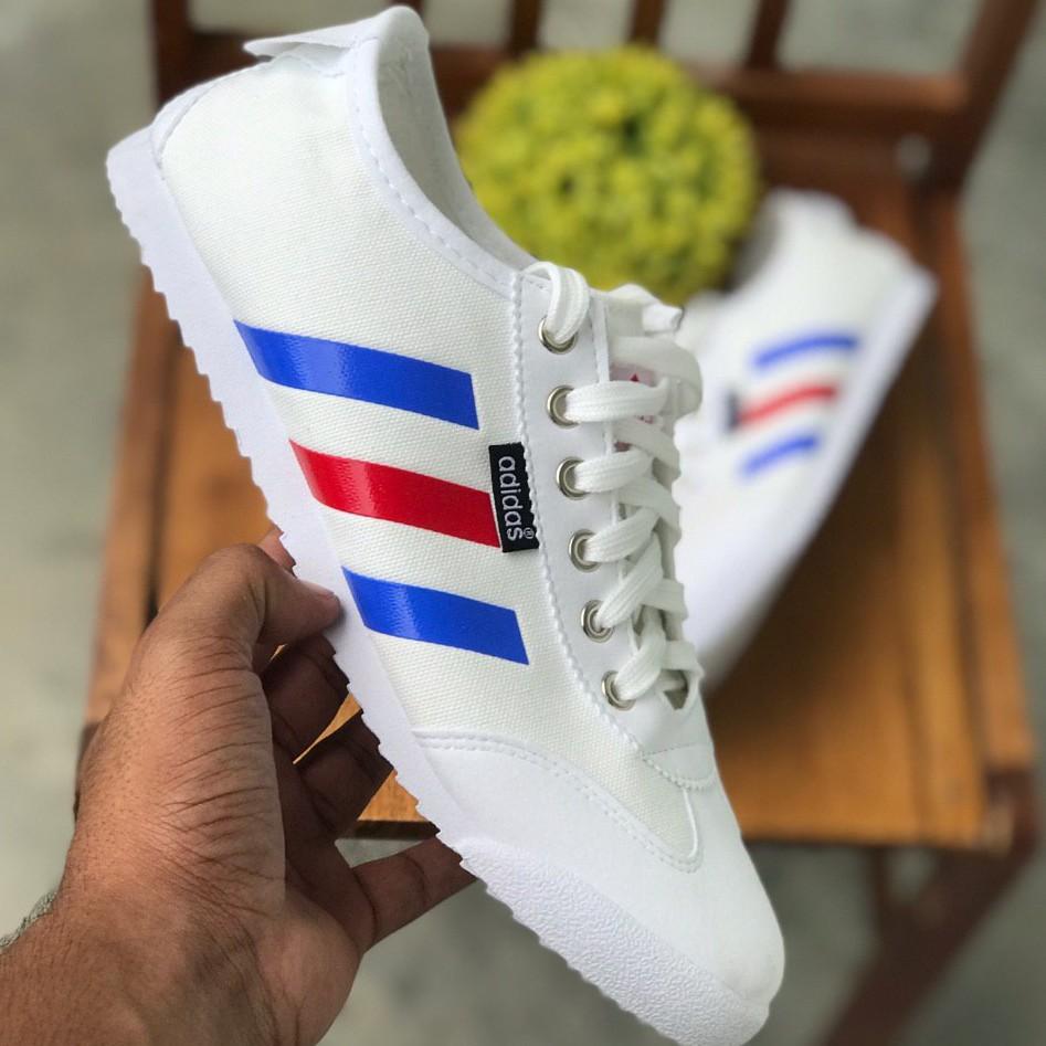 adidas samba white blue red