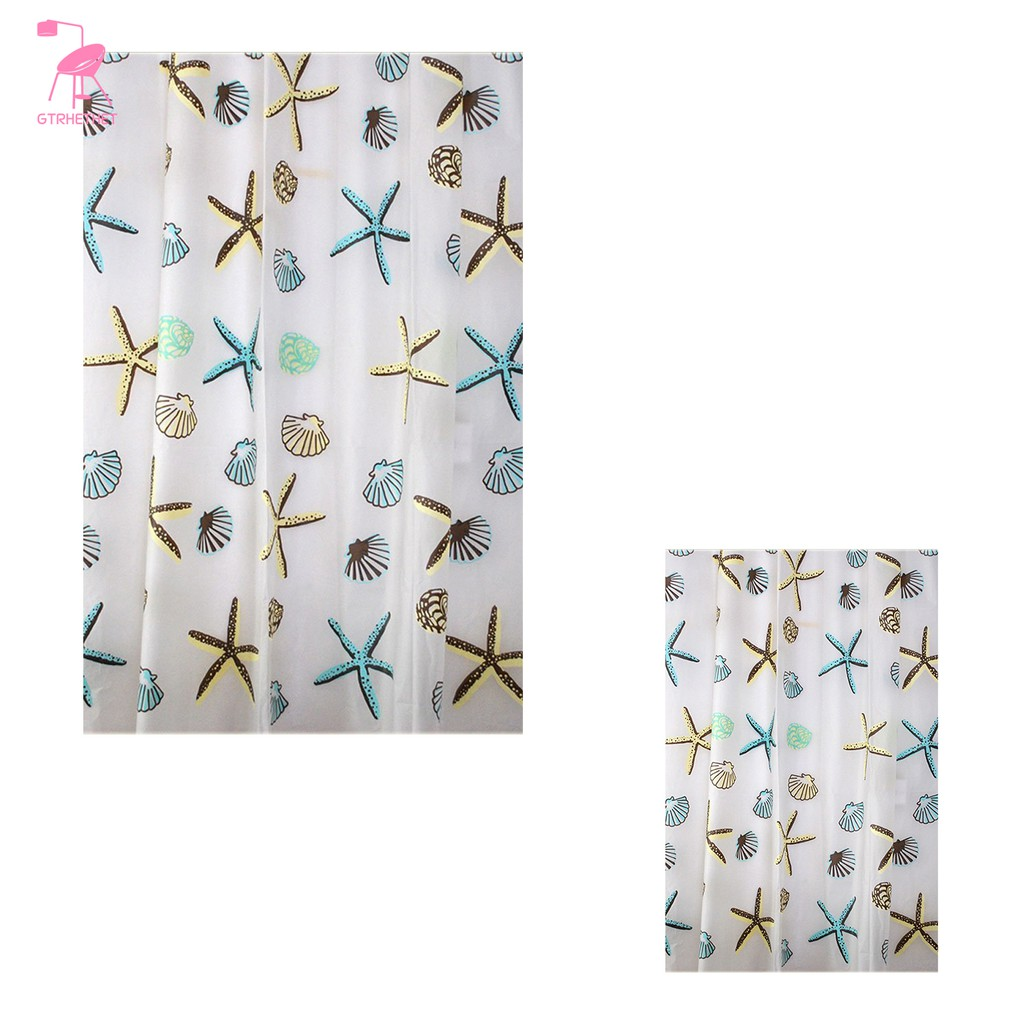 Shower Curtain Waterproof Bathroom Cavi Shell And Starfish Width 180 Cm Height 220 Cm