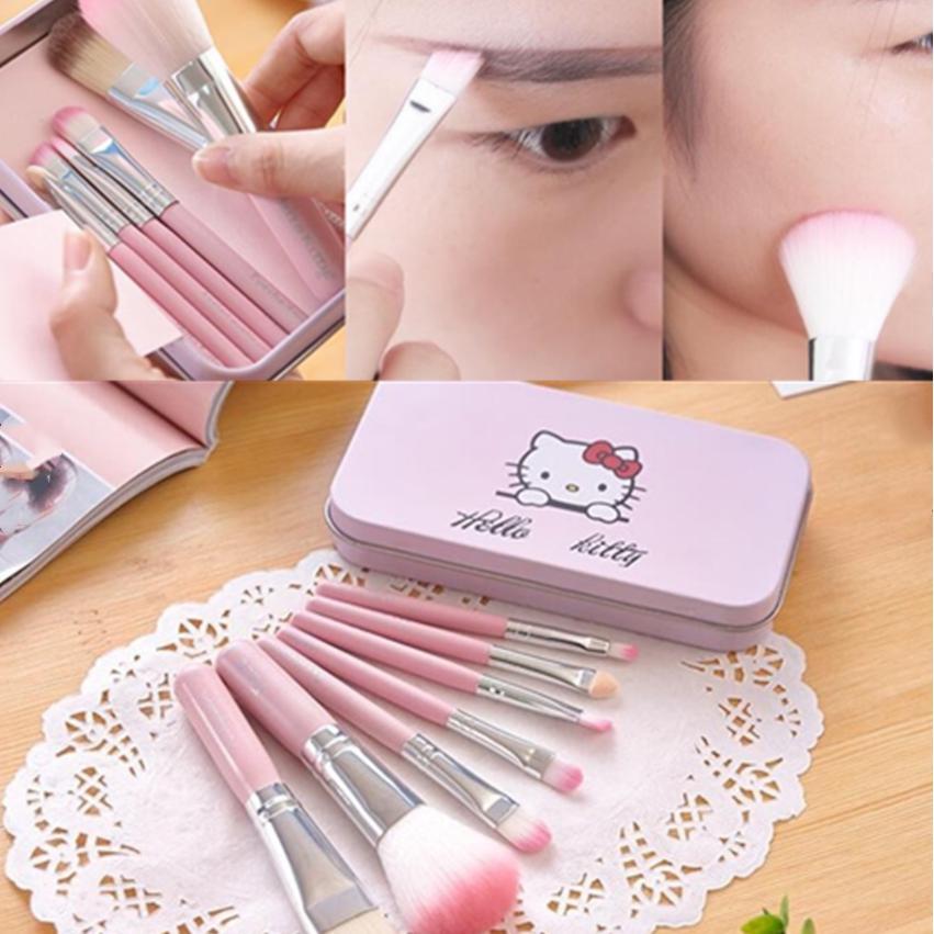 94d22b1da Cat Traveling Kit 7pcs Mini Make Up Brush Set Box Included Hello Kitty  Brush | Shopee Malaysia