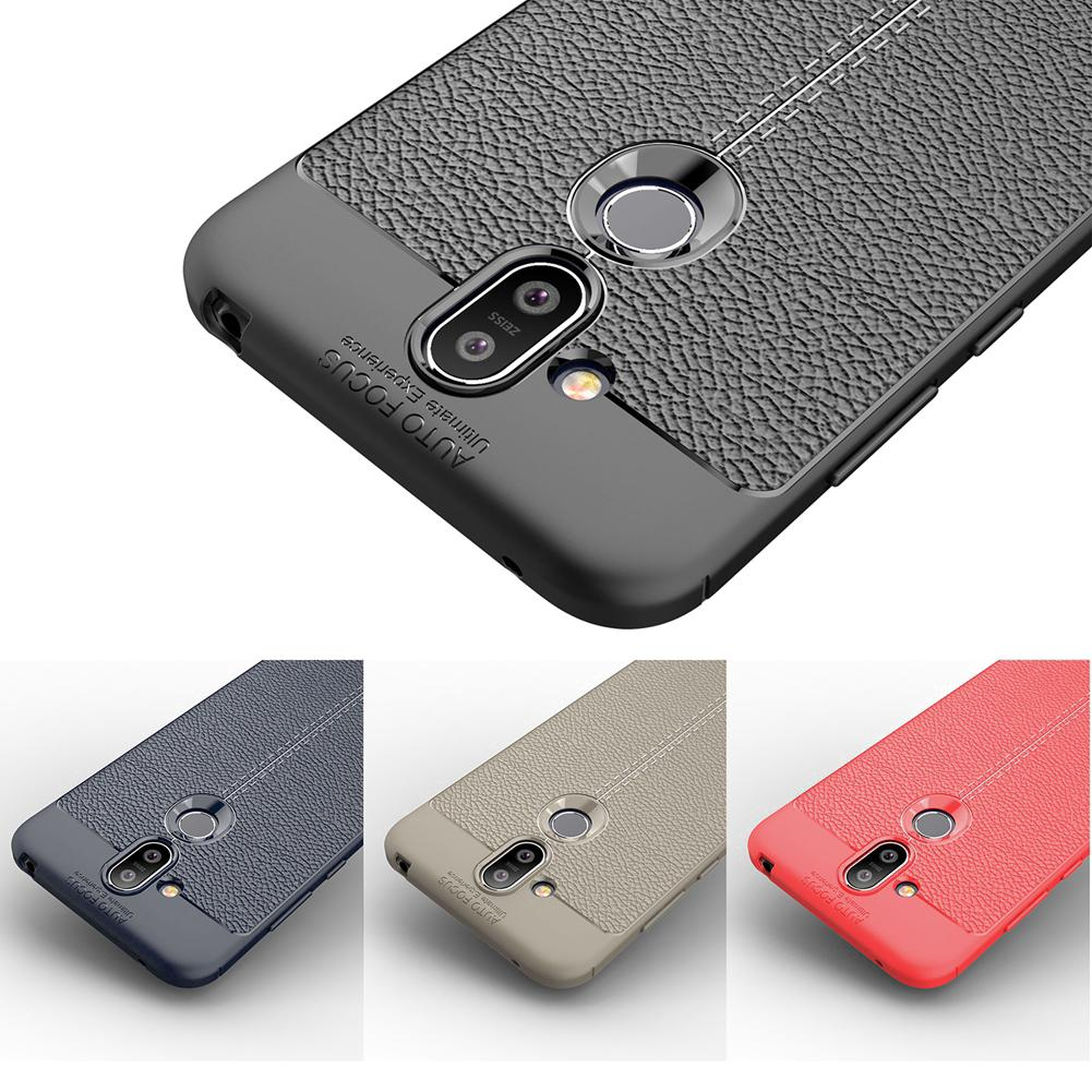new arrival b4afc 4da20 Nokia X7 8.1 7.1 7 Plus Phone Case Silicon Shockproof Leather TPU Back Cover