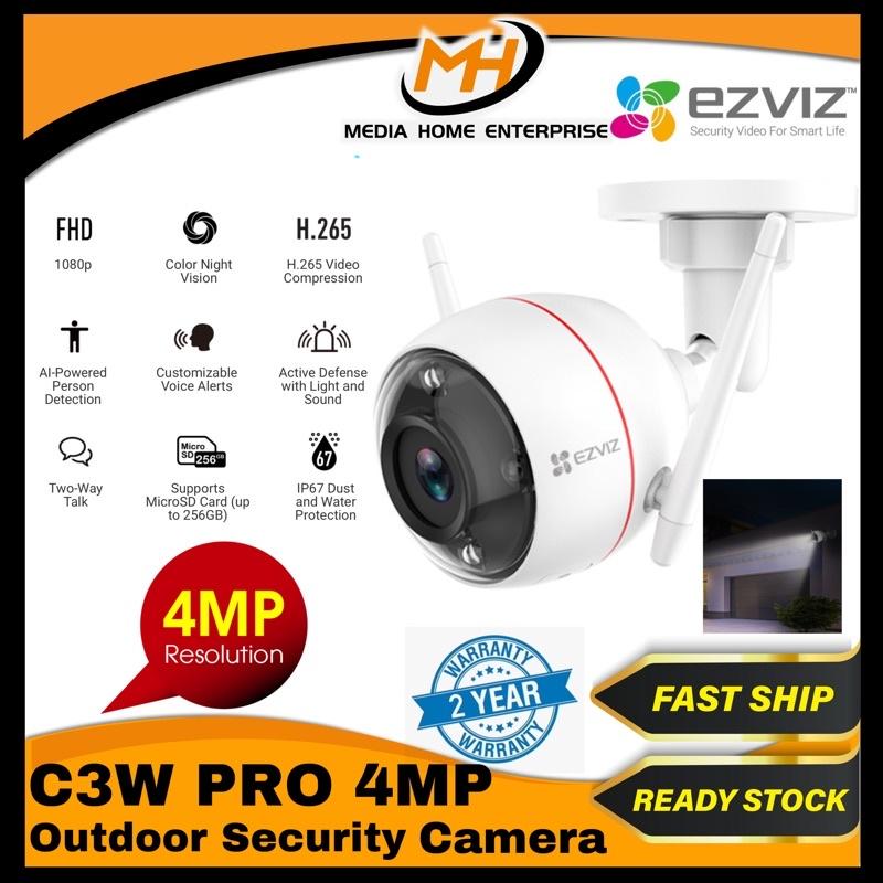 Ezviz C3W Pro (4MP) Outdoor Smart Wi-Fi Camera - Color Night Vision, AI Powered Person Detection, IP67