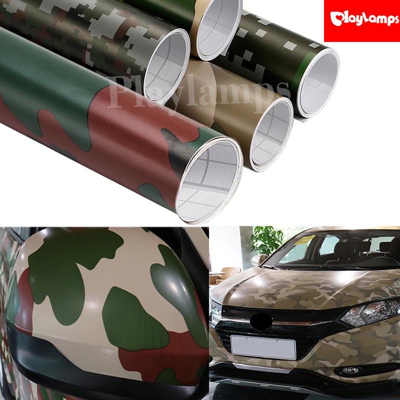 Car Styling 50x152cm Camouflage Adhesive Pvc Vinyl Film Car