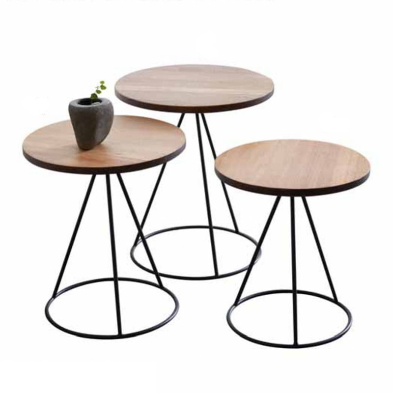 Arcata Solid Wood Round Nest Of Table