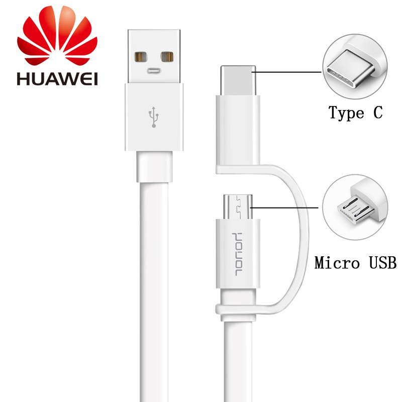 HUAWEI Honor AP55 2 in1 Fast Charging Cable Type C + Micro data Cable |  Shopee Malaysia