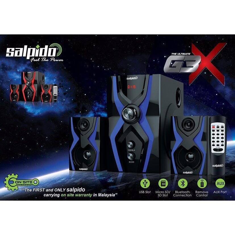 Salpido 2.1 Channel Multimedia Speaker G3X - 20W+10Wx2