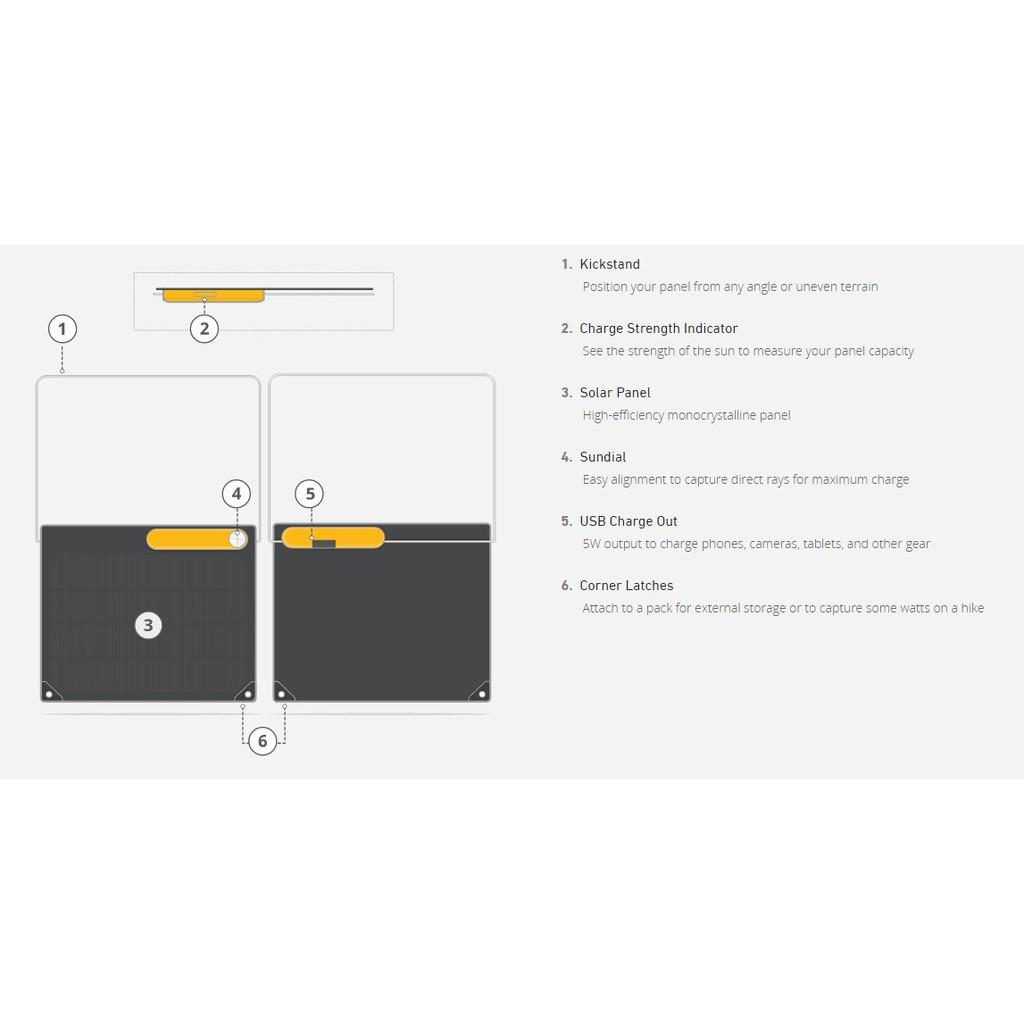 5W MICRO USB INPUT /& USB OUTPUTS 2200 mAh NEW BIOLITE SOLAR PANEL 5 CHARGER