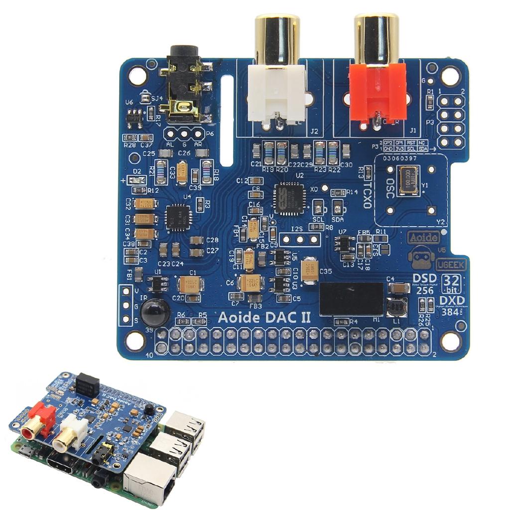 DAC II Hifi Sound Card 384-kHz/32-bit DSD/APE/FLAC/WAV Music Player Audio