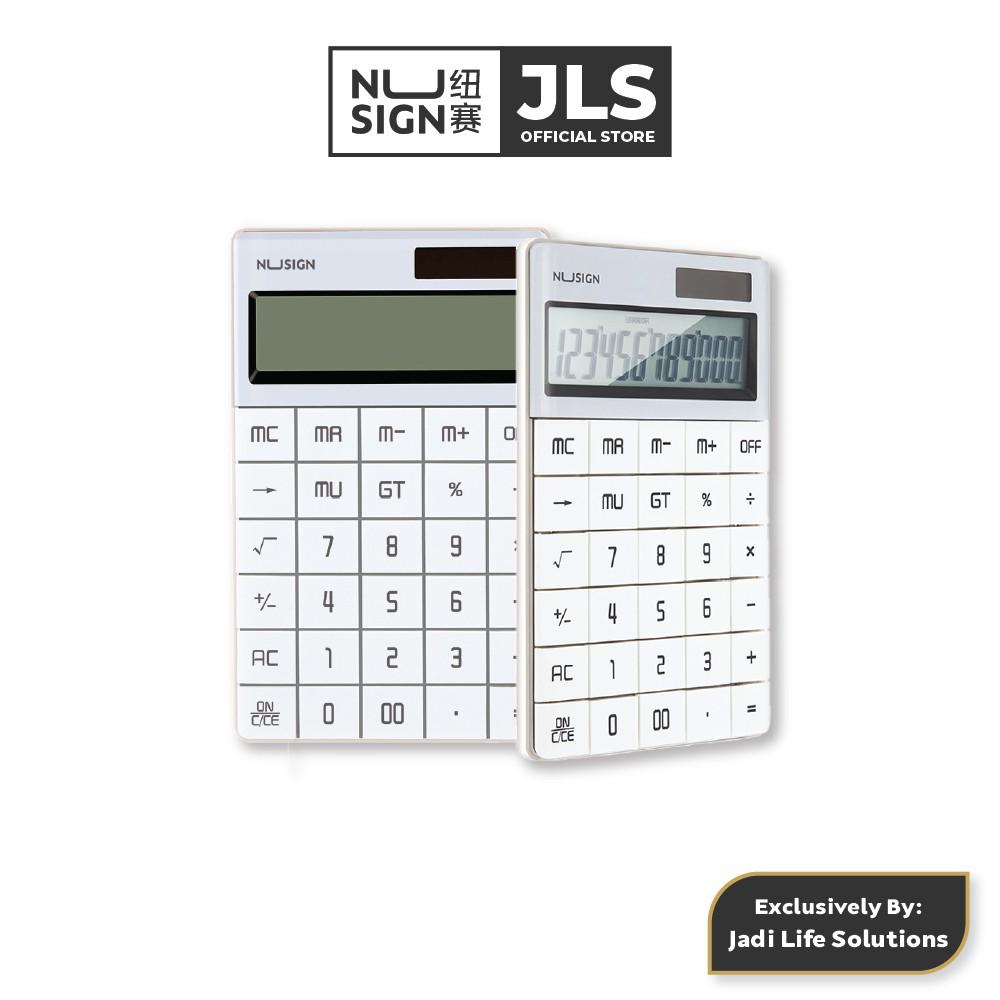 Jadi NuSign Pure White Desk 12-digits Calculator NS041