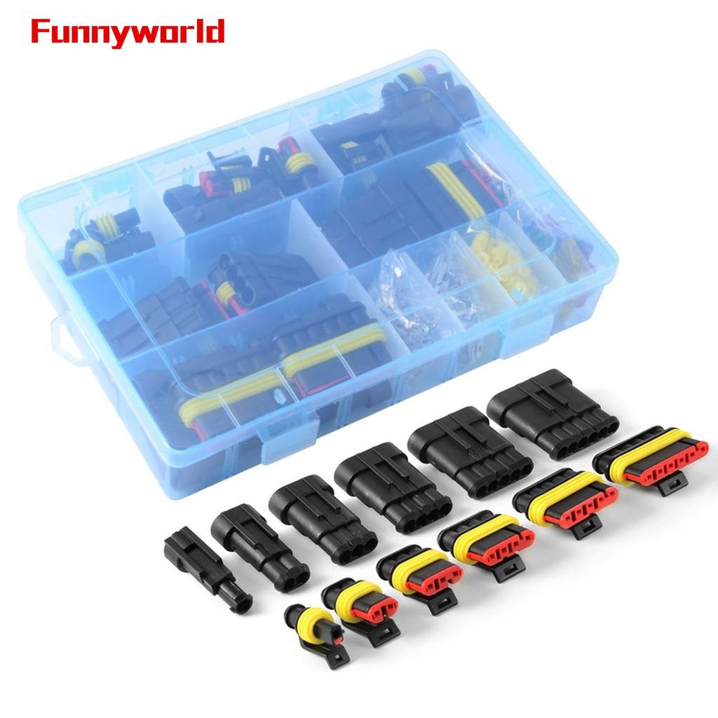 Blade Fuses w// Box Car SUV 1//2//3//4//5//6 Pin Way Wire Cable Electrical Terminals