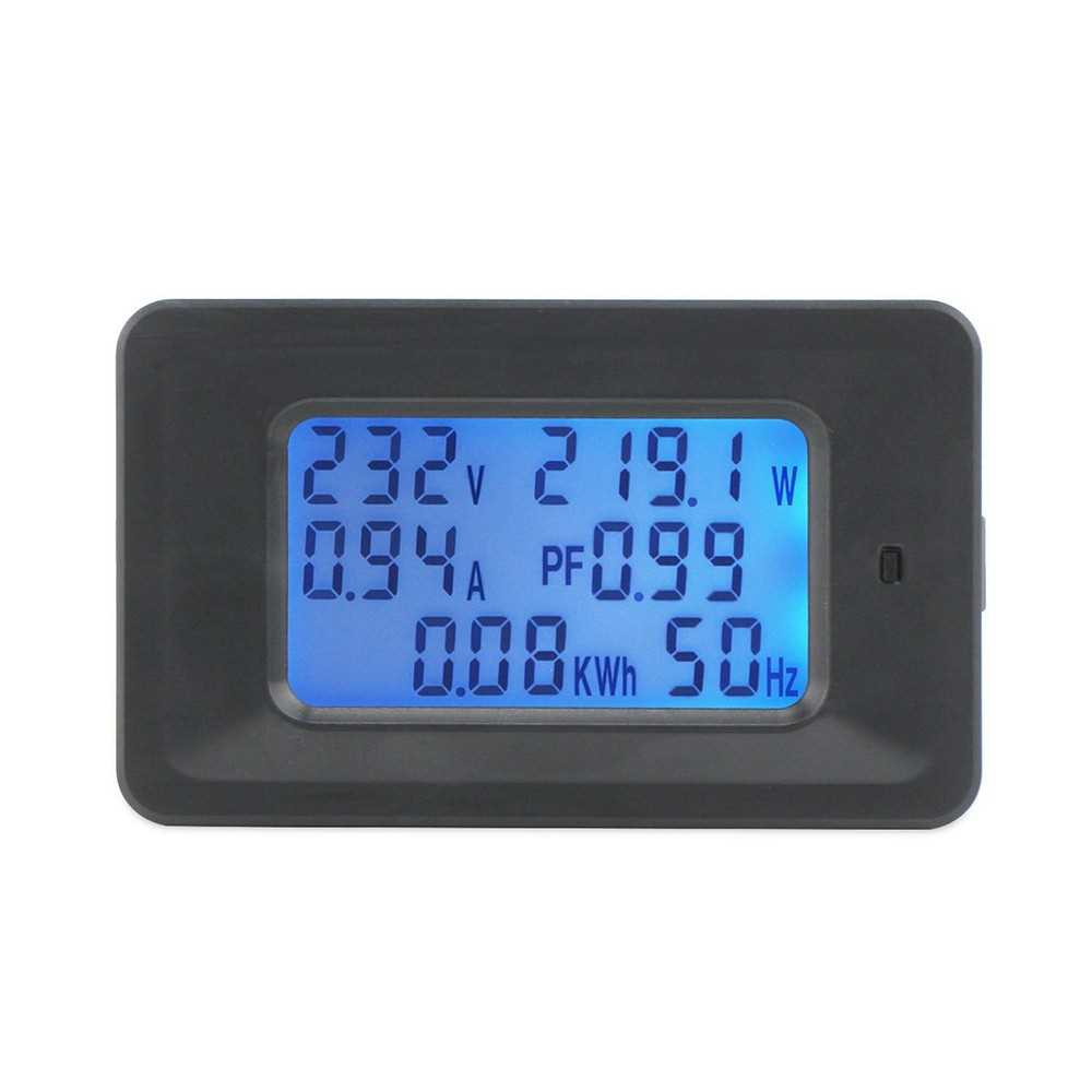 20A Digital Voltage Meter Energy Meter LCD 5KW Power Factor Energy Frequency Meters Voltmeter Ammeter Current Amps Watt