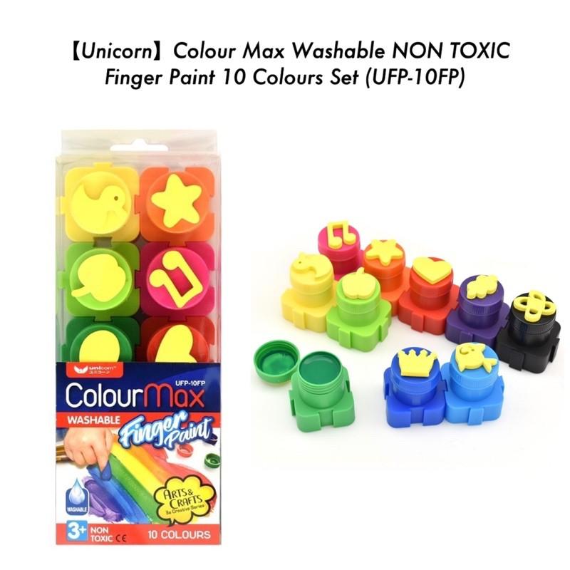 Unicorn Colour Max Washable NON TOXIC Finger Paint 10 Colours Set (UFP-10FP)