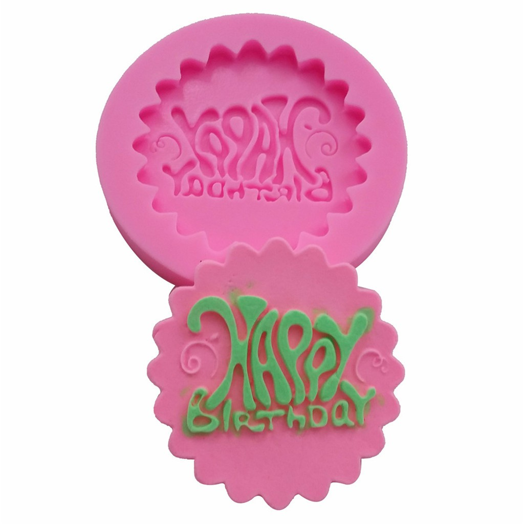 Happy Birthday Silicone Cake Mould Cake Decoration Baking craft Moulds