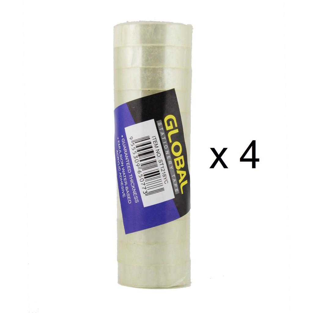 Global Stationery Tape ST1218MSC (12mm x 18m) 12s x 4 Packs