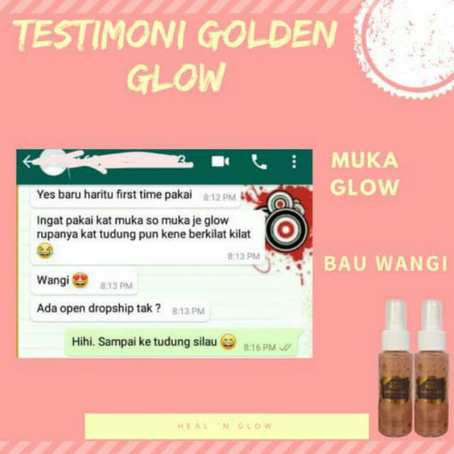 ????Hot Selling????GOLDEN GLOW SERUM KECANTIKAN BASE MAKEUP FACE PRIMER SETTING SPRAY