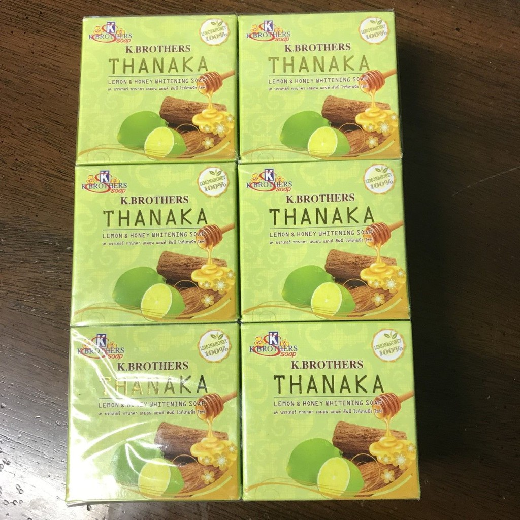 6 X 60g Kbrothers Tanaka Thanaka Lemon Honey Soap Anti Acne Aging K Brothers Shopee Malaysia