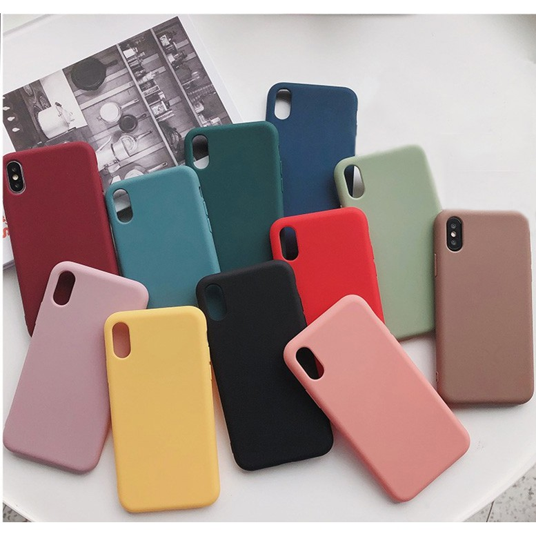 ReadyStock Iphone Case Silicone X/6/7/8/plus XR Xs Max Mobile Phone Case  drop TPU Soft Shell