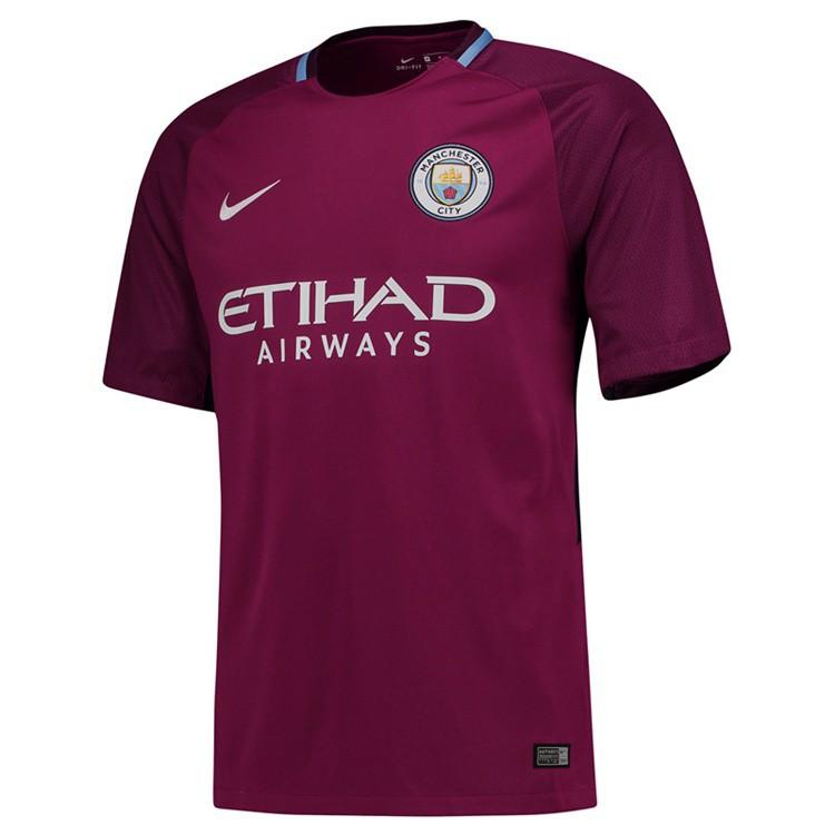 meet 8ee39 15b80 Top Quality Manchester City Away Football Jersey Soccer T-shirt Polyester  17/18