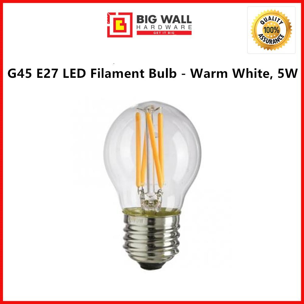 G45 E27 LED Filament Bulb - Warm White, 5W