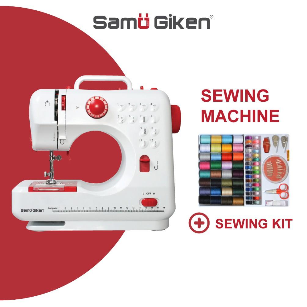 Samu Giken Sewing Machine With Dual Speed 12 Stitch Patterns Option, Model: SEW12RD