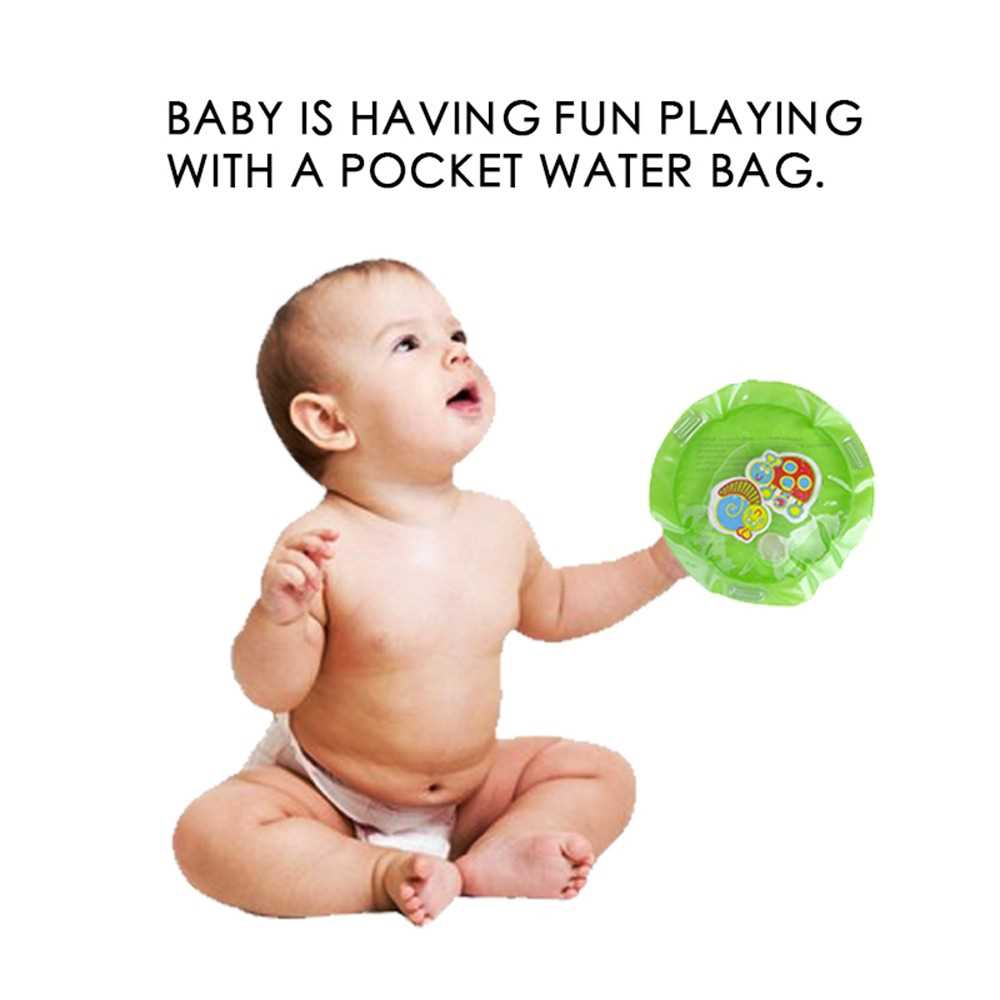 Dual Use Toys Baby Inflatable Patted Pad Mat Baby Water Cushion Green (Green)